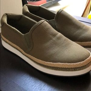 Green Slip On Sneakers